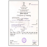 Govt. of India: SIDO certificate-star trace